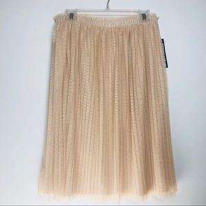 DESIGN LAB Pleated Tulle Skirt